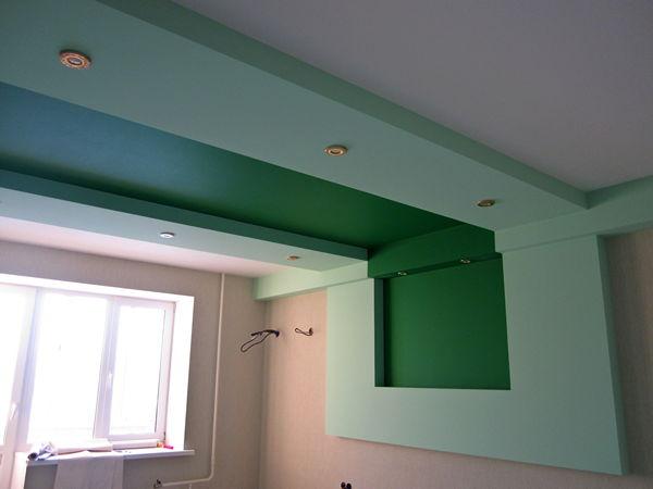 Как сделать на потолке короб 51