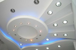 освещение многоуровневого потолка