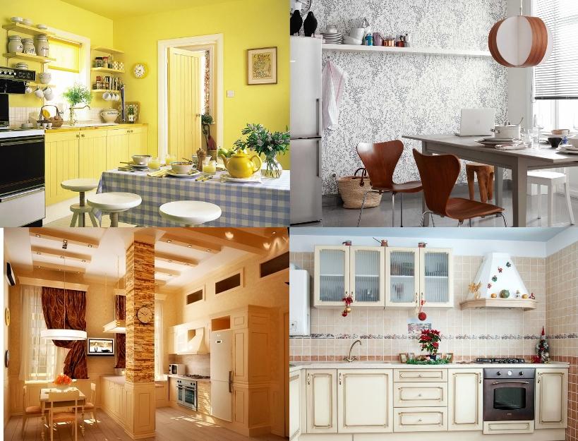 Виды отделки кухни: краской, обоями, гипсокартоном, плиткой