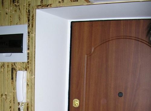 Откосы на двери из гипсокартона