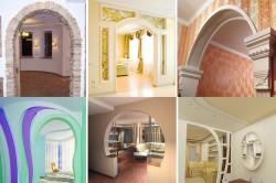 Варианты дизайна арок из гипсокартона