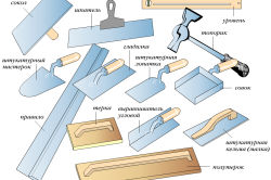 Инструмент, необходимый при шпаклевании стен