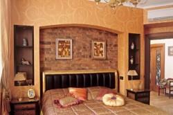Спальня с нишами из гипсокартона