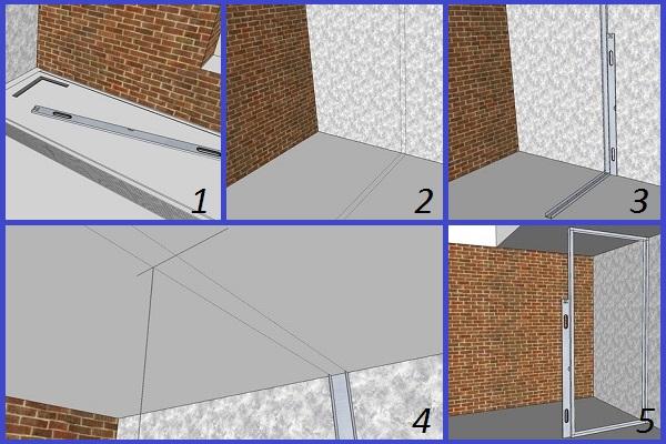Разметка каркаса для гипсокартонной конструкции