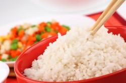 Отварной рис при отравлении